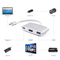 USB 3. 1 Type C Cable to HDMI USB3. 0 Port with charging adapt...
