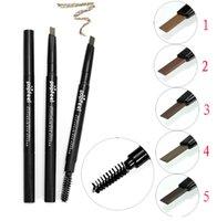 Lápiz de cejas de Popfeel Lápiz de cejas de maquillaje de rotación automática de lápiz de larga duración impermeable NO Blooming vs cejas de DHL libre