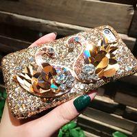 Luxury Bling Crystal Rhinestone Diamond Swan Cases For iPhon...