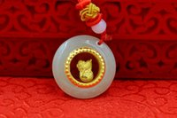 Chinese zodiac12- 2 Boutique pendant Natural Hetian white jad...