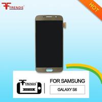 Blanc or bleu affichage à cristaux liquides avec écran tactile digitizer assembly pour Samsung Galaxy S6 G920f G920 G920R4 G920T G920P G920V G920A