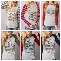 Women Christmas Elk T Shirts Xmas Deer Shirts Xmas Tops Xmas...