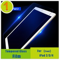 Wholesale- 0. 25mm Tempered Screen Glass For iPad 2 3 4, 9H Ha...
