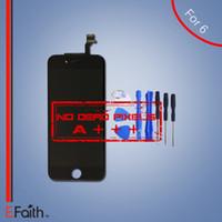 Pour Grade A +++ iPhone 6 Écran LCD noir avec numériseur à écran tactile complet pour 4,6 pouces iPhone 6 outils lcd ouverts