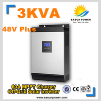 Промотирование Инвертор 3Kva 2400W солнечного инвертора с инвертора 48V к инвертору MPV 220V 60A Чисто инвертор синуса инвертора синуса 15A Заряжатель AC