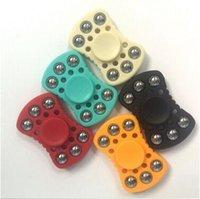 6 colores nuevo de dos hilanderos Fidget ABS plástico EDC Spinner de mano para el autismo y el tiempo de rotación de ADHD tiempo anti estrés juguete CCA5861 200pcs