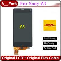 Pour Sony Xperia Z3 LCD Grade AAA + D6653 D6633 D6603 D6683 Écran LCD lcd pour Sony Z3 Écran tactile 5.2 '' Blanc et noir