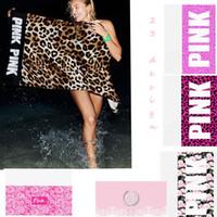 70 * 140cm serviette de plage rose serviette de sport VS Serviette de bain serviette de léopard flamingos salle de bain serviettes de yoga 100pcs KKA1434