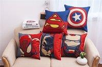 45*45cm Square Superhero Spider Captain Pillow Case cover Pi...