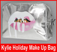 New arrival!! Kylie Jenner Silver Make Up Bags Holiday Editi...