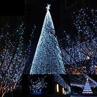12M 100 светодиодных солнечной энергии свет шнура рождественской елки Декоративные Свадьба День Рождения Открытый Главная Теплый белый фея