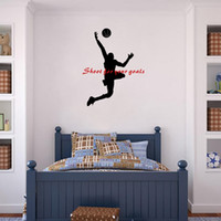 Shoot for Your Goals Basketball Quote Wall Stickers Sport Vi...