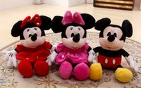 1Pcs 28cm Mickey Mouse And Minnie Mouse Stuffed Animals Plus...