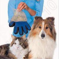 New Arrival Deshedding Gant pour animaux de compagnie True Touch pour un gant doux et efficace Grooming Removant Gant Bath Dog Cat Pince à brosse CCA5718 100pcs