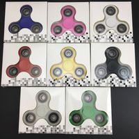 EDC Fidget Spinner jouet essuie-glace à doigts Hand tri spinner HandSpinner EDC Toy pour décompression Anxiété Jouets avec coffret vendu oth348