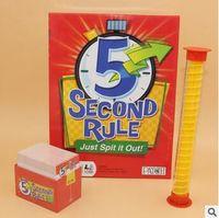 Nouveauté 5 Seconde Règle jeu de société Juste Spit It Out Jeux de cartes 5 Deuxième Règle Jeux de cartes à collectionner KTV Party Games CCA5777 60pcs