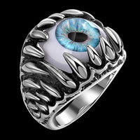The punk style stainless steel ring The European and America...
