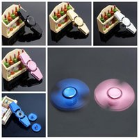 5 colores de aleación de aluminio de la mano de hilera de dedo Gyro Finger Spinner Fidget Spinners Gyro juguete de descompresión con la caja al por menor CCA5852 100pcs
