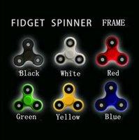 Fidget Spinner marco EDC Hand Spinner marco de plástico para la descompresión ansiedad dedo juguete de escritorio juguete 6 colores LJJO1259
