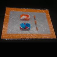 Ensemble de kit de silicone avec tampon mat en silicone Dab 7 ml de conteneurs carrés pour pots de cire Dabs Outil en acier inoxydable et titane en titane