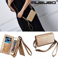 Étui en cuir véritable téléphone étui pour iPhone Iphone 6/6 plus Iphone 7/7 plus portefeuille sac à main sac à bandoulière multifuction