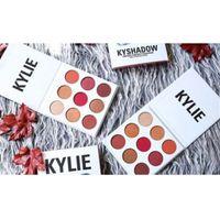 En stock NOUVEAU Kylie Jenners Burgundy Ombre à paupières palette Kylie Jenner Cosmetics La Bourgogne Ombre à paupières Kyshadow Livraison gratuite 1pcs