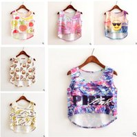 Sexy Crop Tops 2017 Summer Vest Emoji Pink Banana Pizza Tank...