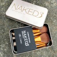 Nouveaux Hot 12pcs pro pinceaux de maquillage Set Poudre de cheveux synthétique Fond de teint Lèvres Eyeliner coudé outil de brosse Contour T251 Livraison gratuite