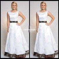 Белые свадебные платья Camo A Line Floor Length Ribbon Formal Bridal Gowns Выполненные на заказ дешевые простые Vestidos De Novia 2017