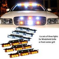 Amber White White &Amber 54 LED Emergency Vehicle Strobe Fla...