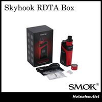 Authentique Smok Skyhook RDTA Boîte 220w Starter Kit Appareil-photo tout-en-un avec 9ml de réservoir intégré 100% Original de Smoktech avec le code