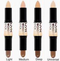 NYX Wonder Stick Correcteur Highlighter Foundation Maquillage de visage Double-terminé Contour stick 4 couleurs Light / Medium / Deep / Universal Cosmétiques