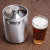 Stainless Steel 2L 64oz Mini Beer Bottle Barrels Beer Keg Sc...