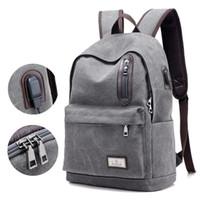 New Design Canvas Backpack Men Fashion Laptop Backpack Stude...