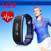 Bracelet santé sportive H29 Bracelet intelligent Bluetooth 4.0 Bracelets intelligents Waterproof Passometer moniteur de sommeil avec moniteur de fréquence cardiaque