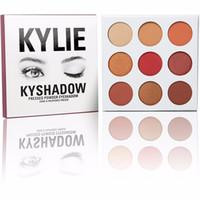 Новый Kyshadow Kit Дженнер DHL бесплатно Пудра Eye Shadow Palette Кайли косметике 9colors комплект Бронзовый Palette Eyeshadow
