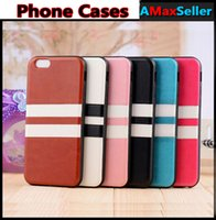 For iphone 7 plus Colorful Stripe Phone Cases For iphone 5S ...