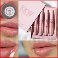 Kylie jenner Lipsticks kkw x by beauty lipgloss kim kardashian комплект 4 цвета Кремовый жидкий розовый Кимберли ким кики кимми макияж губа