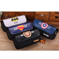 Surper Hero Style Double Layer Pencil Case Multifunction Sta...