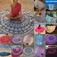 Round Mandala Indian Tapisserie Serviette de plage Bikini Beach Cover Ups Bohême Hippie Beachwear Beach Sarongs Shawl Serviette de bain Yoga Tapis OOA1421