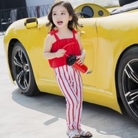 Everweekend Girls New Stripes Ruffles Overall Swim Suites Su...