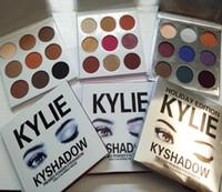 2017 Drop Shipping Expédition Édition Kyshadow LA PALETTE DE BOURGOGNE Kylie Jenner cosmétiques Kit de palette des ombres à paupières Bronze maquillage 9 couleurs