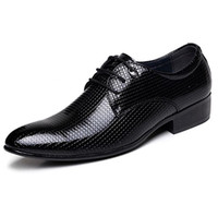 New Fashion Pointed Toe Men Patent Leather Shoes For Men Wed...
