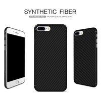 Étui de téléphone cellulaire Nillkin en fibre de carbone en fibre de carbone pour iPhone 7 étui en fibre pour téléphone portable iphone 7 plus boîtier de protection pour véhicule