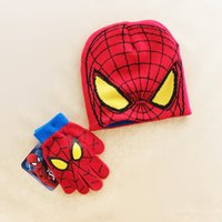 Spider Man Glove Beanie Set Baby Winter Cartoon Fashion Knit...