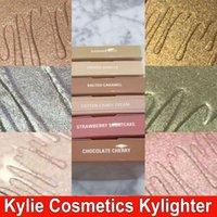 В наличии Kylie Cosmetics Kylighter French Vanilla Cotton Candy Соленый кармель Highlighter Glow Face Makeup 6 цветных бронзаторов