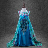 Frozen snow queen Dress Princess Elsa' s Dresses Girls H...