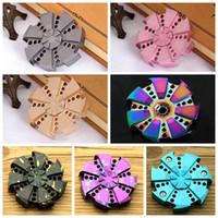 7 colores Turbina Rose Hand Spinner aleación de zinc descompresión ansiedad dedo de los juguetes para el tiempo de matar Gyro Professional dedo CCA5950 100pcs