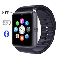 GT08 Bluetooth Smart Watch avec fente pour carte SIM et TF Health Watchs pour Android Samsung et IOS Apple iphone Smartphone Bracelet Smartwatch