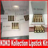 В Запасе Kylie косметики коко Kollection губ комплект kyliecosmetics kollaboration 4шт продукты для губ создатель Хлоя Free